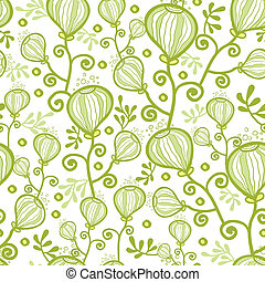 Underwater abstract plants seamless pattern background