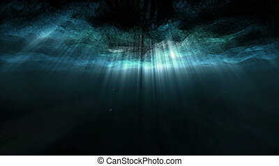 Underwater abstract ray