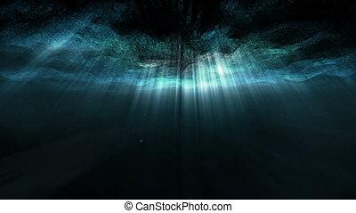 underwater, abstrakt, strahl