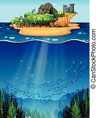 Underwater and island