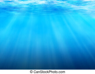 Underwater background - Editable vector background of light...