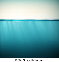 Underwater background - Underwater, nature background, eps...