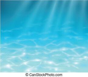 Underwater background, realistic vector illustration.