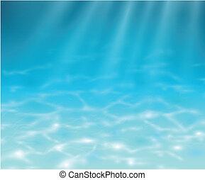 Underwater background, realistic vector illustration.