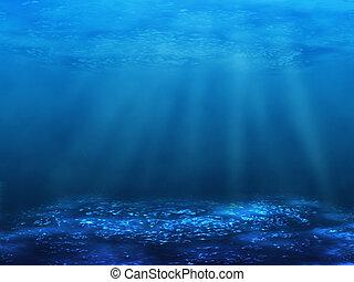 underwater bottom - The underwater world. An illustration of...