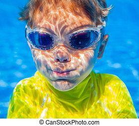 Underwater boy