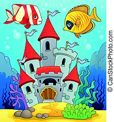 Underwater Castle Fairy Tale Castle Under The Sea Hand