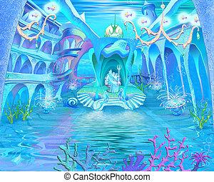 Underwater Castle Interior.