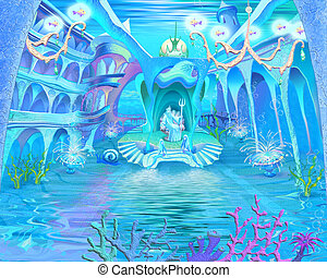 Underwater Castle Interior.