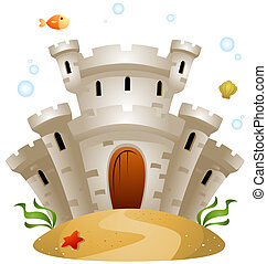 Underwater Castle with Clipping Path