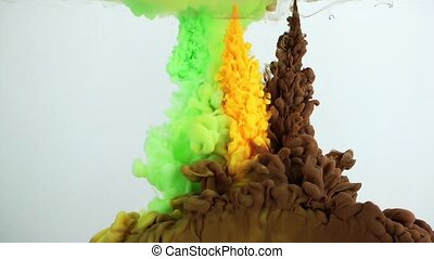 Underwater Colorful ink Splash
