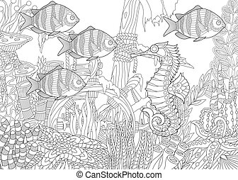 Underwater composition of fishes