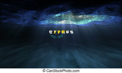 Underwater Cyprus - The words underwater Cyprus floating...