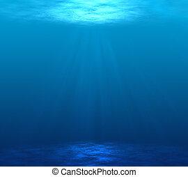 Digitally made underwater scene