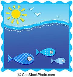 underwater., fishes., ocean