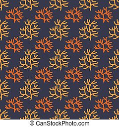 underwater life-10 - Seamless pattern with corals....