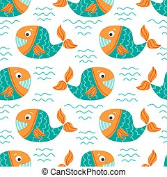 underwater life-11 - Seamless pattern with whales....