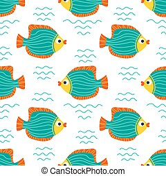underwater life-12 - Seamless pattern with angelfishes....