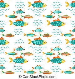 underwater life-13 - Seamless pattern with fishes....