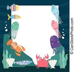underwater life banner