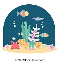 underwater life fishes