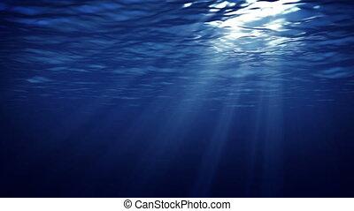 """Underwater Light"" - ""Underwater seabed view with horizon..."