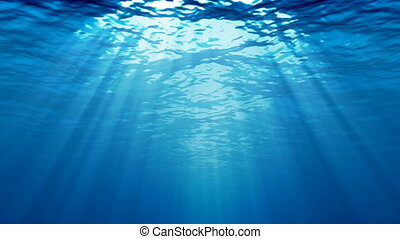 Loopable underwater scene with light rays.