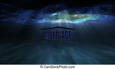 Underwater Mortgage - The words underwater mortgage with a...