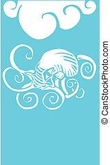 underwater, oktopus