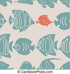 Underwater pattern - Beautiful vector pattern with nice...