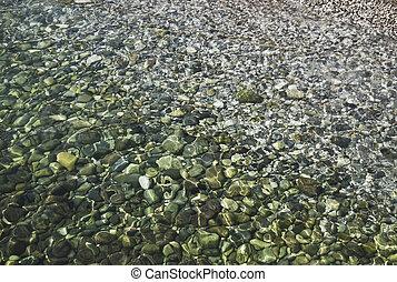 underwater pebbles