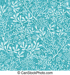 Underwater plants seamless pattern background