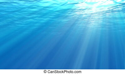 Underwater scene. Large popular marine background -...