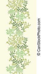Vector underwater seaweed garden vertical seamless pattern background