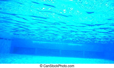 underwater shooting in the pool.