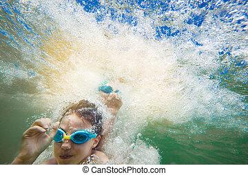 Underwater Splashing Kids