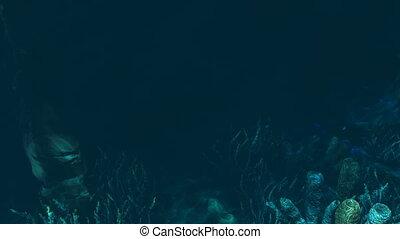 Underwater treasure hunt - Realistic three dimensional...