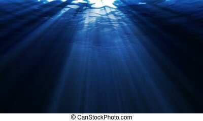 Underwater with Ray of Light