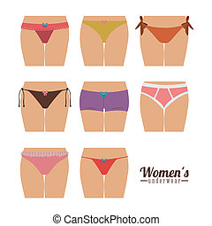 Underwear design over white background, vector illustration