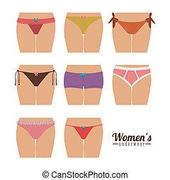 Underwear design over white background, vector illustration