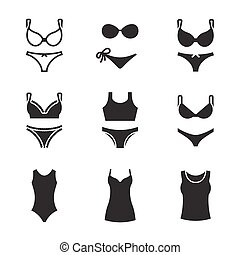 Underwear icons set