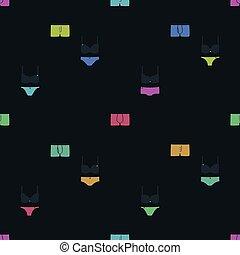 Underwear on a dark background