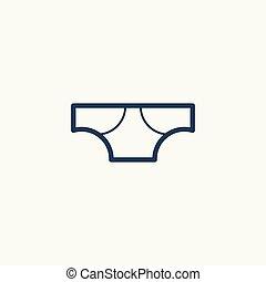 Underwear panties icon.