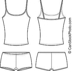 Underwear - Vector illustration of women's sport underwear. ...