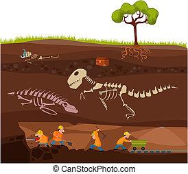 vector illustration of a underground
