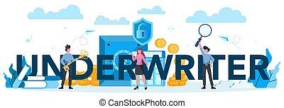 underwriter, empresa / negocio, financiero, tipográfico, ...