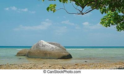 Undeveloped Tropical Beach Paradise on the Island of Phuket, Thailand
