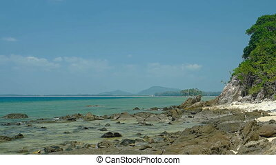 Undeveloped Tropical Beach Wilderness in Phuket, Thailand