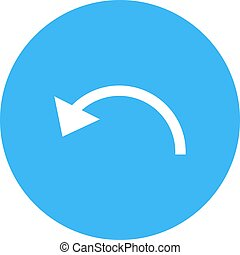 Back, arrow, undo icon vector image. Can also be used for text editing. Suitable for mobile apps, web apps and print media.