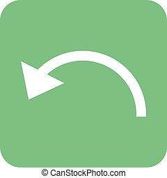 Undo - Back, arrow, undo icon vector image.Can also be used...